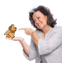 Photo Download - Candy Whirley - Pointing at Lion